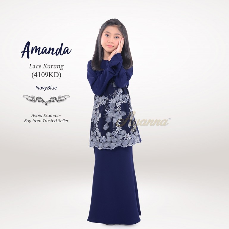 Amanda Lace Kurung 4109KD (NavyBlue)