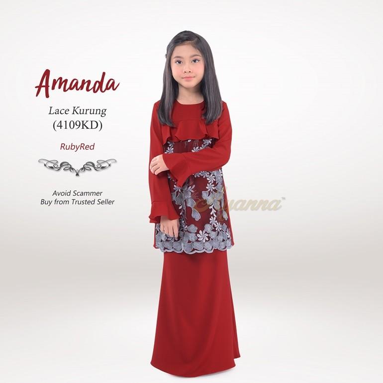 Amanda Lace Kurung 4109KD (RubyRed)