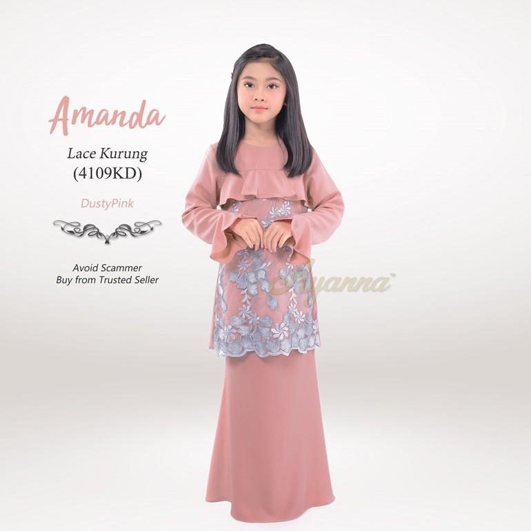 Amanda Lace Kurung 4109KD (DustyPink)