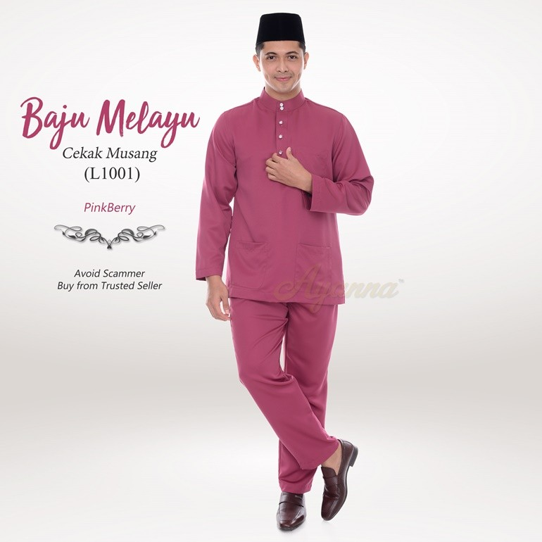 Baju Melayu Cekak Musang L1001 (PinkBerry)