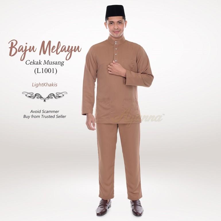 Baju Melayu Cekak Musang L1001 (LightKhakis)