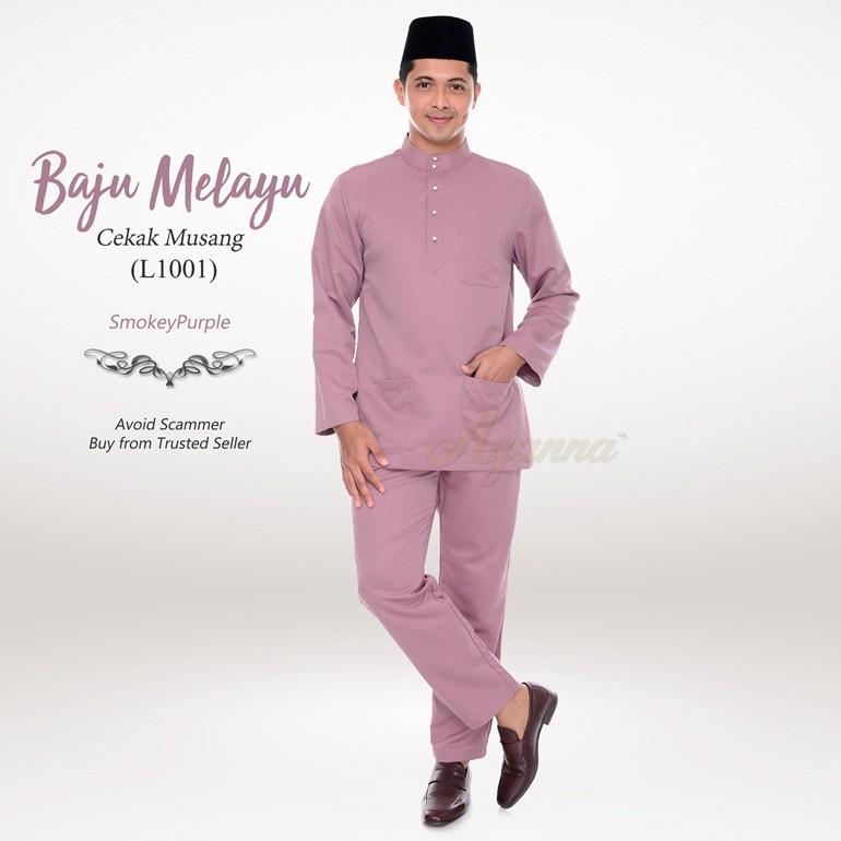 Baju Melayu Cekak Musang L1001 (SmokeyPurple)