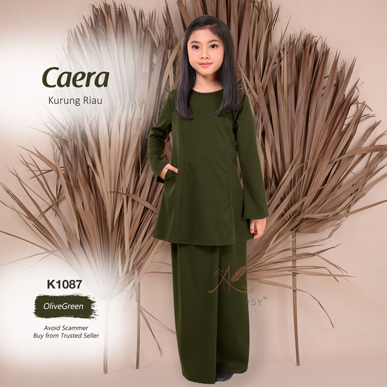Caera Kurung Riau K1087 (OliveGreen)