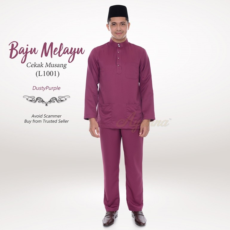 Baju Melayu Cekak Musang L1001 (DustyPurple)