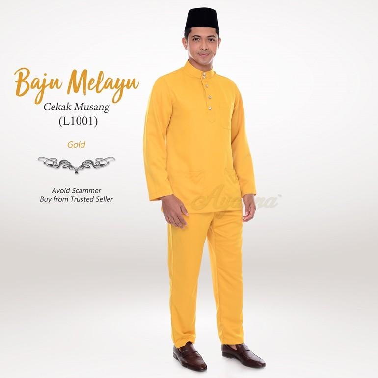 Baju Melayu Cekak Musang L1001 (Gold)