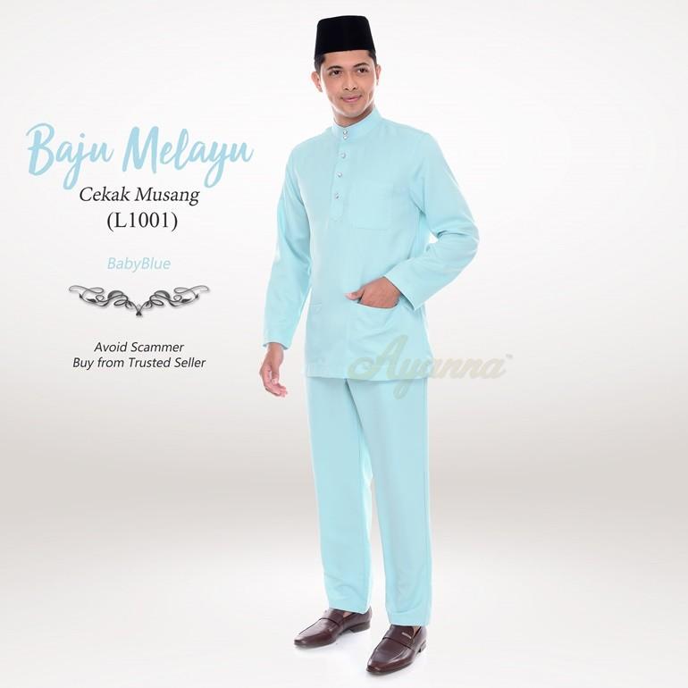 Baju Melayu Cekak Musang L1001 (BabyBlue)