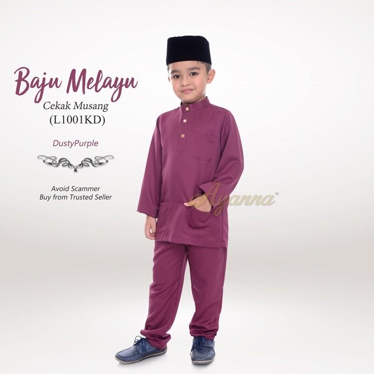 Baju Melayu Cekak Musang L1001KD (DustyPurple)