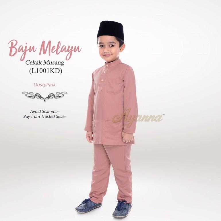 Baju Melayu Cekak Musang L1001KD (DustyPink)