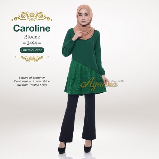 Caroline Blouse 2494 (EmeraldGreen)