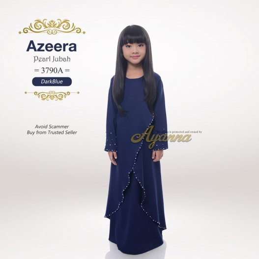 Azeera Pearl Jubah 3790A (DarkBlue)