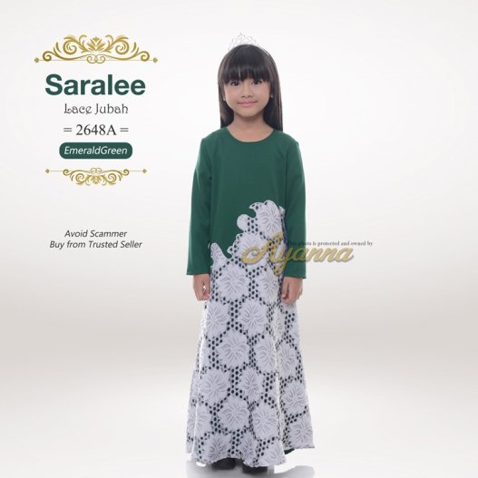 Saralee Lace Jubah 2648A (EmeraldGreen)