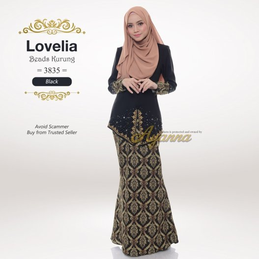Lovelia Beads Kurung 3835 (Black)