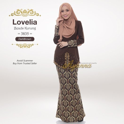 Lovelia Beads Kurung 3835 (DarkBrown)