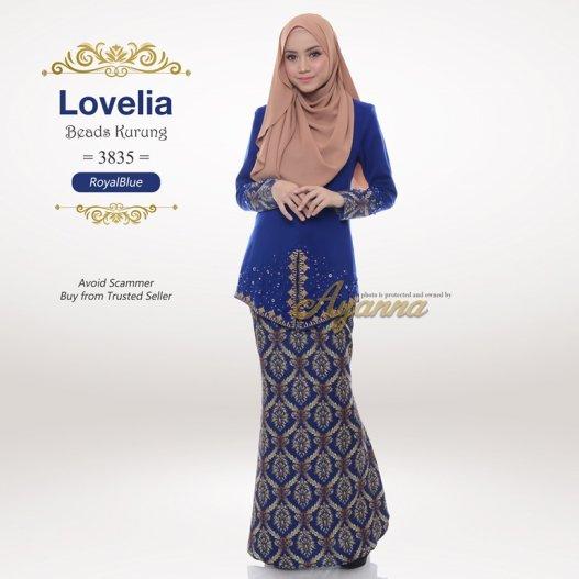 Lovelia Beads Kurung 3835 (RoyalBlue)