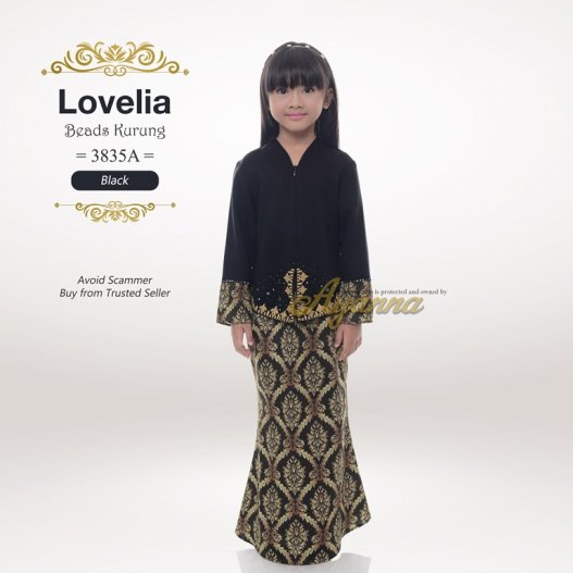Lovelia Beads kurung 3835A (Black)