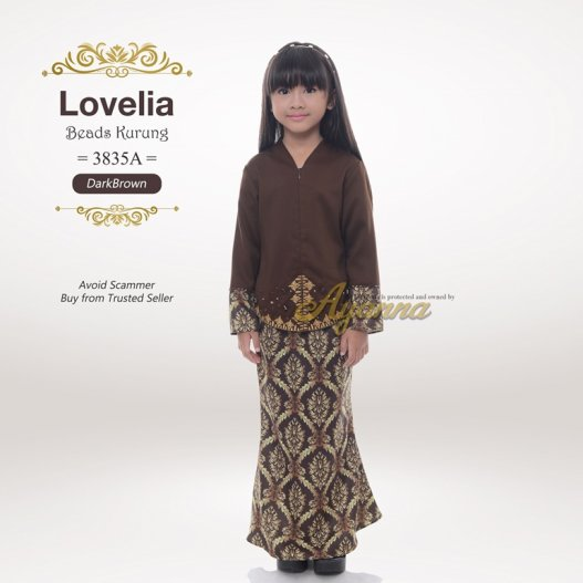 Lovelia Beads kurung 3835A (DarkBrown)