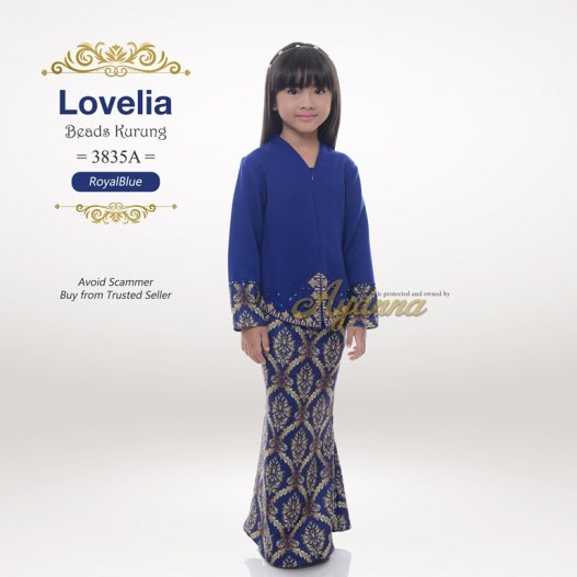 Lovelia Beads kurung 3835A (RoyalBlue)