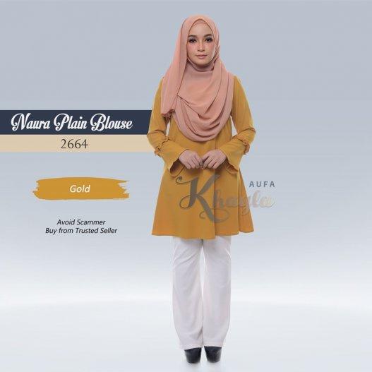 Naura Plain Blouse 2664 (Gold)