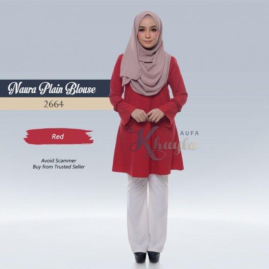 Naura Plain Blouse 2664 (Red)