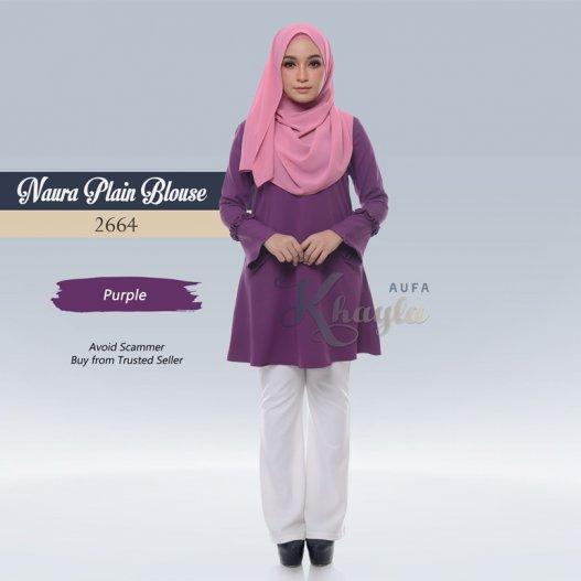 Naura Plain Blouse 2664 (Purple)