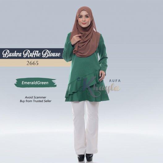 Bushra Ruffle Blouse 2665 (EmeraldGreen)