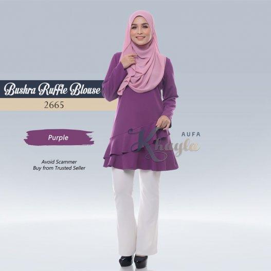 Bushra Ruffle Blouse 2665 (Purple)