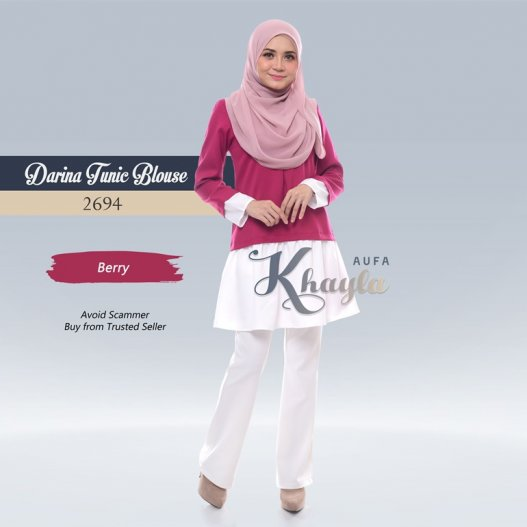 Darina Tunic Blouse 2694 (Berry)