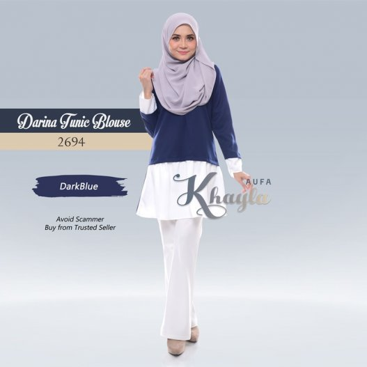 Darina Tunic Blouse 2694 (DarkBlue)
