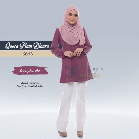 Qeera Plain Blouse 3646 (DustyPurple)