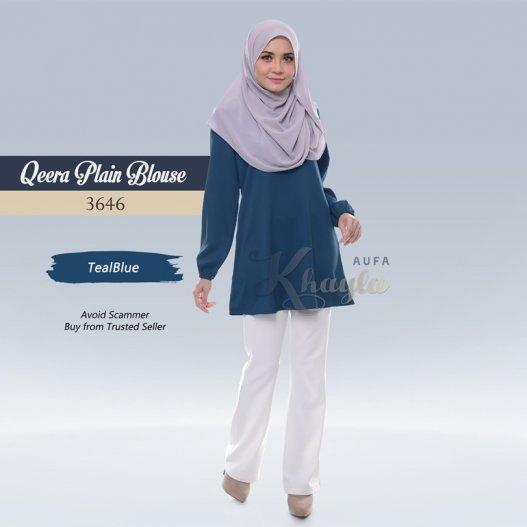 Qeera Plain Blouse 3646 (TealBlue)