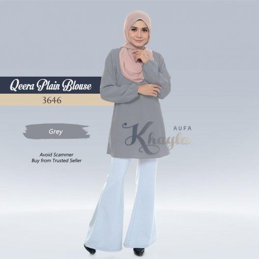 Qeera Plain Blouse 3646 (Grey)