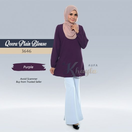 Qeera Plain Blouse 3646 (Purple)