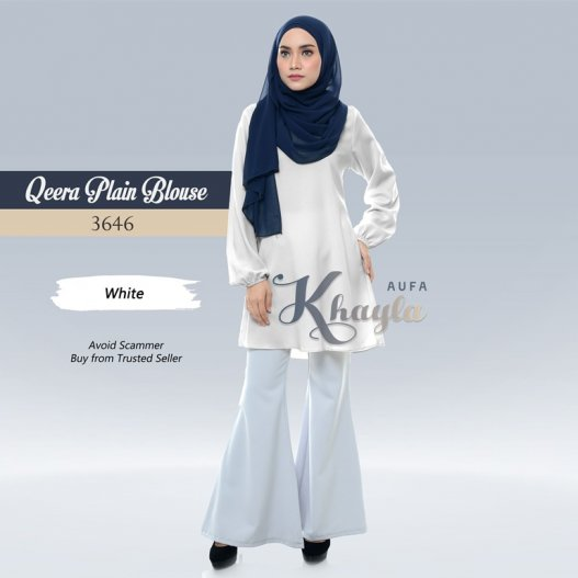 Qeera Plain Blouse 3646 (White)