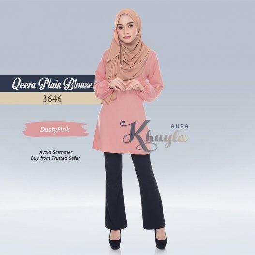 Qeera Plain Blouse 3646 (DustyPink)