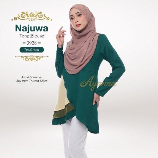 Najuwa Tone Blouse 3928 (TealGreen)