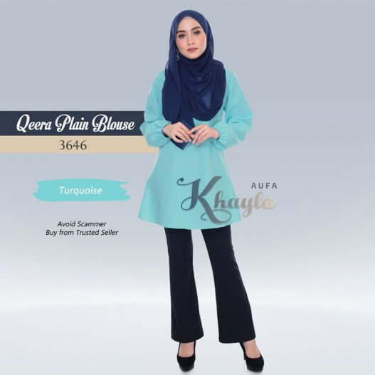 Qeera Plain Blouse 3646 (Turquoise)
