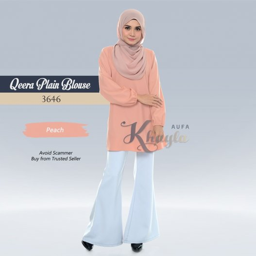 Qeera Plain Blouse 3646 (Peach)
