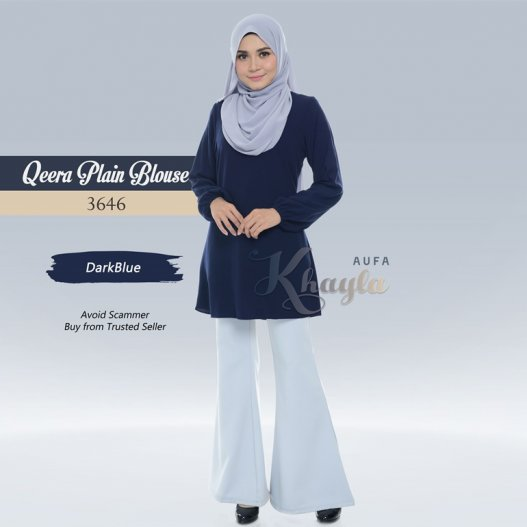 Qeera Plain Blouse 3646 (DarkBlue)