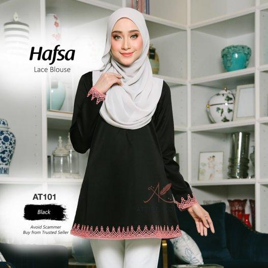 Hafsa Lace Blouse AT101 (Black)
