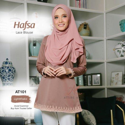 Hafsa Lace Blouse AT101 (LightKhakis)