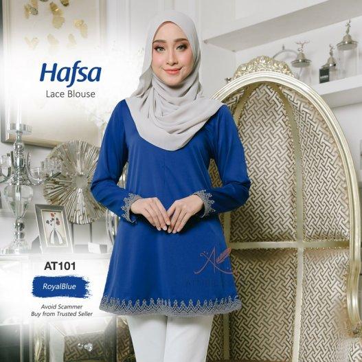 Hafsa Lace Blouse AT101 (RoyalBlue)