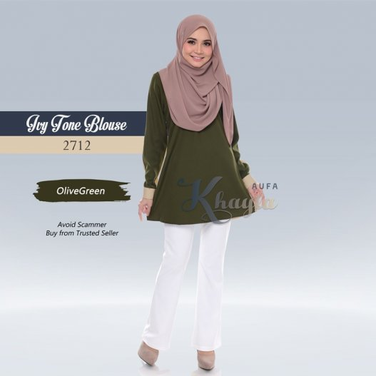 Ivy Tone Blouse 2712 (OliveGreen)