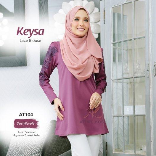 Keysa Lace Blouse AT104 (DustyPurple)