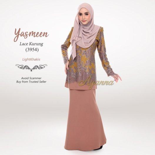 Yasmeen Lace Kurung 3954 (LightKhakis)