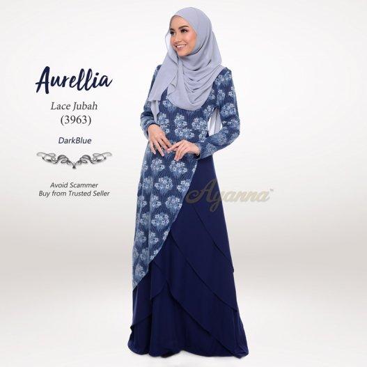 Aurellia Lace Jubah 3963 (DarkBlue)