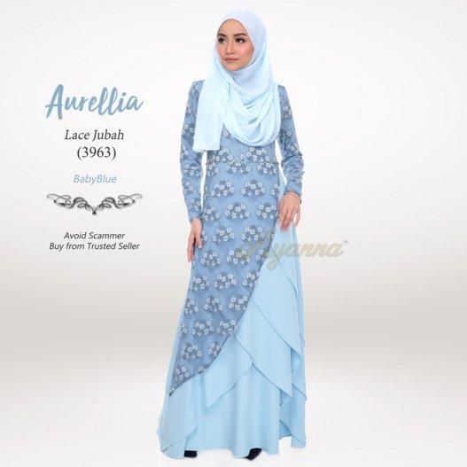 Aurellia Lace Jubah 3963 (BabyBlue)