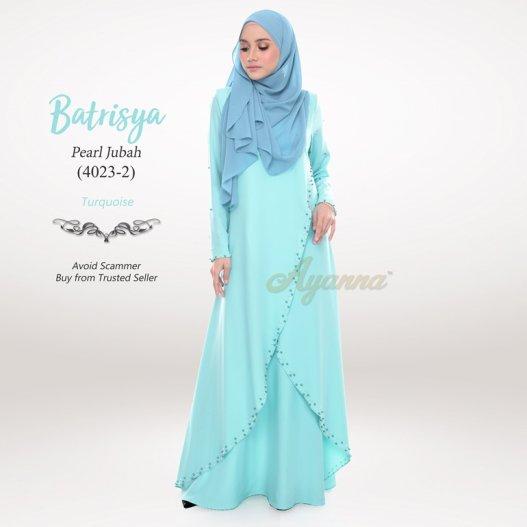 Batrisya Pearl Jubah 4023-2 (Turquoise)