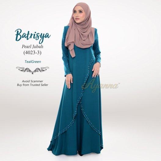 Batrisya Pearl Jubah 4023-3 (TealGreen)