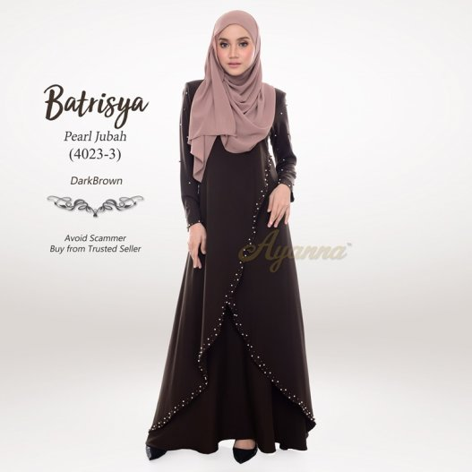 Batrisya Pearl Jubah 4023-3 (DarkBrown)