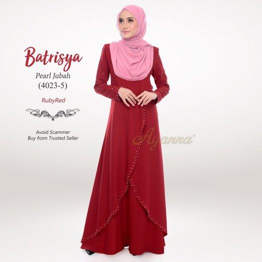 Batrisya Pearl Jubah 4023-5 (RubyRed)